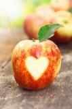 Ja kocham jabłka Obrazy Royalty Free