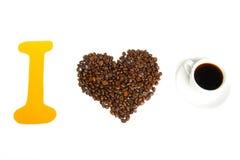 Ja kocham kawę Fotografia Royalty Free
