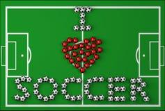 ja kocham piłkę nożną Zdjęcia Stock