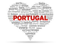 ja kocham Portugal Fotografia Stock