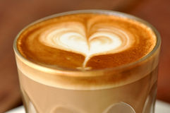 ja latte miłość Fotografia Royalty Free