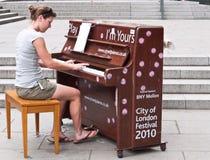 ja m ja pianin sztuka ulica wasze Zdjęcie Stock