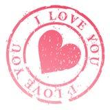 ja miłość ilustracyjny znaczek ty Zdjęcie Stock