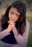 ja modli się Fotografia Royalty Free
