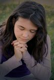 ja modli się Obrazy Royalty Free