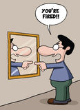 Jaźni zatrudnienia kreskówka Zdjęcie Stock