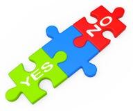 Ja Nichterscheinen-Ungewissheit und Entscheidungen vektor abbildung