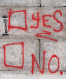 Ja Nr.-Graffiti Stockfotografie