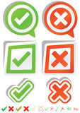 Ja Nr. Stickers_eps Stockfotos