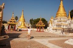 Ja Nu Ok Kyaung monaster Zdjęcie Royalty Free