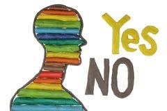 Ja oder kein Konzept Stockbild