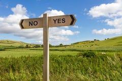 Ja oder kein Zeichen stockbild