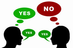 Ja oder nein Lizenzfreie Stockfotos