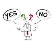 Ja oder nein Lizenzfreie Stockbilder