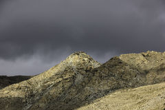 Jałowy Himalajski Halny szczyt w Nako Fotografia Stock