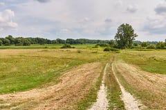Jałowy pole w wsi Obraz Stock