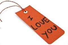 ja przylepiać etykietkę miłości ty Zdjęcie Stock