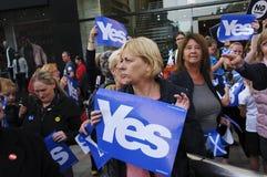 Ja Referendum 2014 van Verdedigers het Schotse Indy Royalty-vrije Stock Fotografie