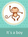 Ja ` s chłopiec dziecka przyjazdowa karta ilustracji