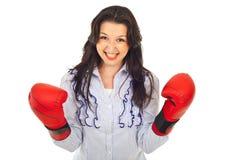 Ja! SiegerGeschäftsfrau Lizenzfreie Stockfotografie