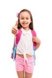 Ja! 1st dag av skolan! Arkivbild