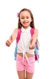 Ja! 1st dag av skolan! Fotografering för Bildbyråer
