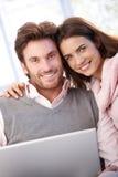 ja target2093_0_ para piękny laptop używać potomstwo obraz royalty free