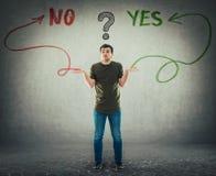 Ja und keine Antwort lizenzfreies stockbild