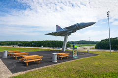 JA 37 Viggen memorial monument with restplace Stock Images