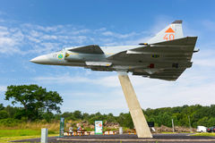 JA 37 Viggen memorial monument Stock Image