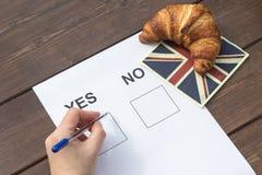 JA vorwählen im Referendum Lizenzfreie Stockbilder