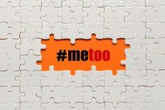 Ja zbyt ręki literowanie Wezwanie stać przeciw molestowaniu seksualnemu, napadowi i przemoc, w kierunku kobiet zdjęcia stock