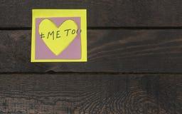 Ja zbyt tekst w miłości serca majcherze Molestowania seksualnego pojęcie Obraz Stock
