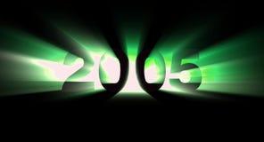 Jaar 2005 stock illustratie