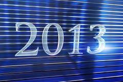 Jaar 2013 gemaakt van glas het van letters voorzien Stock Foto