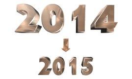 Jaar 2014 Royalty-vrije Stock Foto's