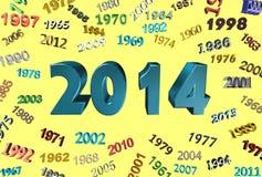 Jaar 2014 Stock Foto