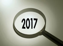 2017 Jaar Stock Afbeelding