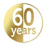 60 jaar Royalty-vrije Stock Foto