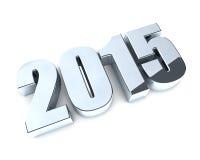 2015 jaar cijfers Stock Afbeelding
