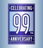 99 jaar die verjaardagsontwerpsjabloon vieren 99ste embleem Vector en illustratie stock illustratie