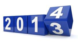 Jaar 2013 draaien aan jaar 2014 Stock Foto's