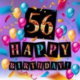 56 jaar gouden verjaardags Royalty-vrije Stock Afbeeldingen