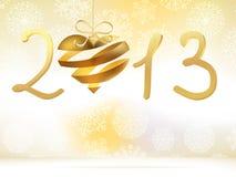 Jaar 2013 met vele sterren en lichten. + EPS8 Stock Afbeelding