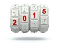 Jaar 2015 op het codemechanisme Stock Afbeelding