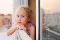 6 jaar oud meisjes Royalty-vrije Stock Foto's