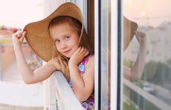 6 jaar oud meisjes Royalty-vrije Stock Afbeelding