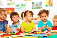 3 jaar oude creatieve jonge geitjes Royalty-vrije Stock Foto