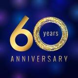 60 jaar oude luxueuze aantallen Royalty-vrije Stock Afbeelding
