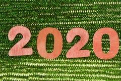 Jaar 2020 rode aantallen royalty-vrije stock afbeeldingen